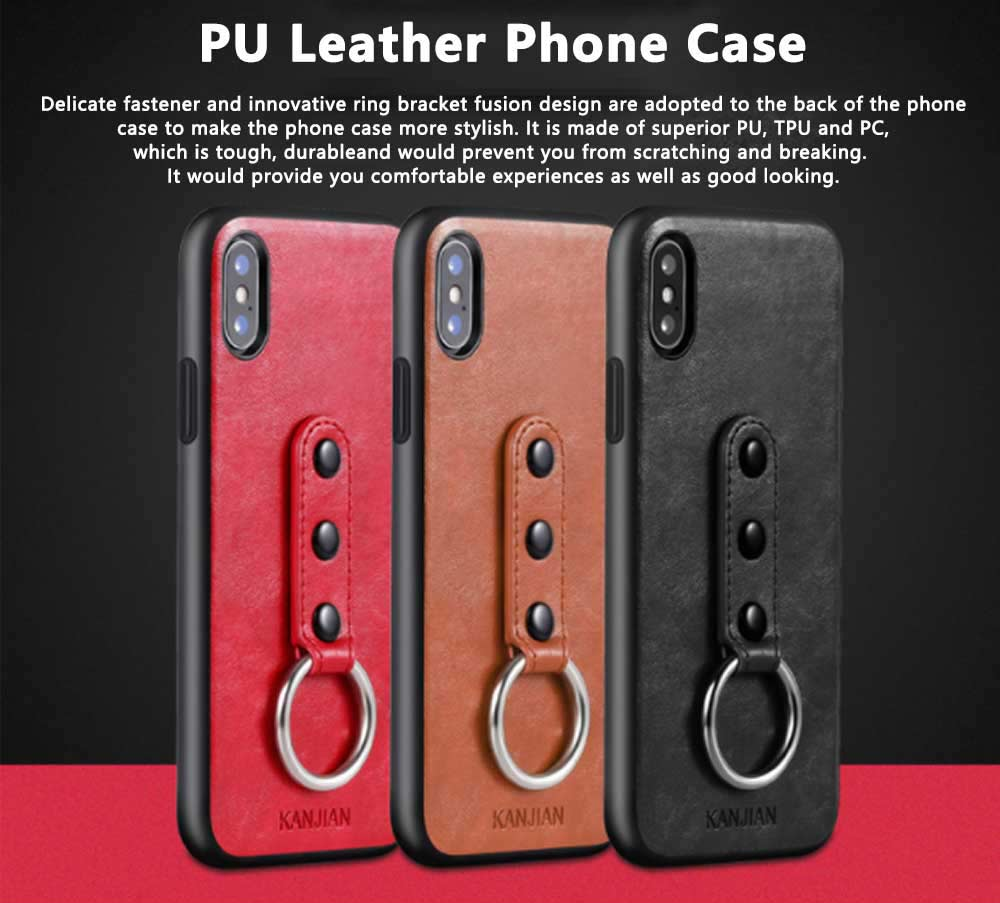 Luxury Soft PU Leather Phone Case for iPhone X/XS/XR 0