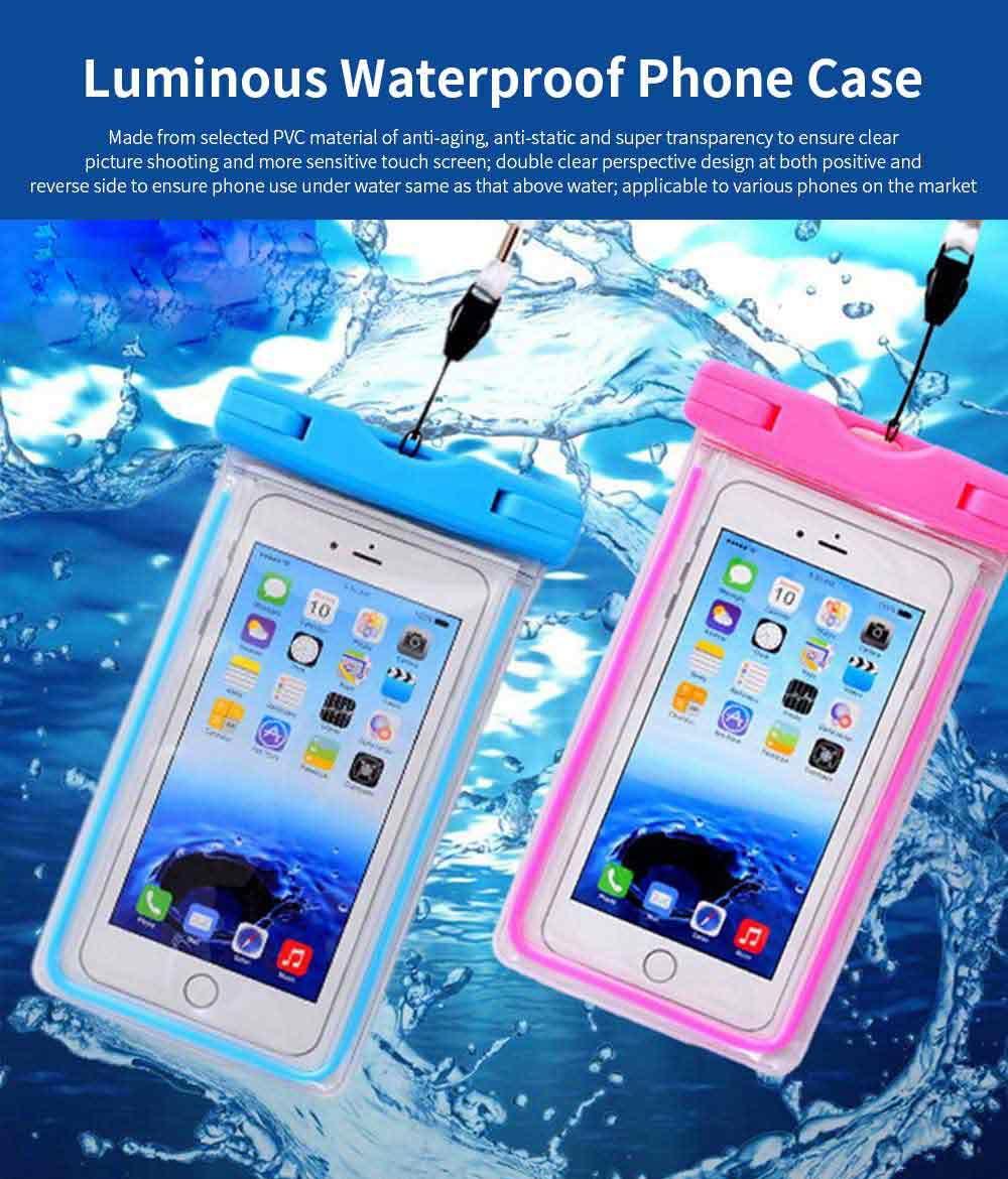 Diving Swimming Purpose Waterproof PVC Phone Case, High-end Transparent Phone Case for Outdoor Activities 0