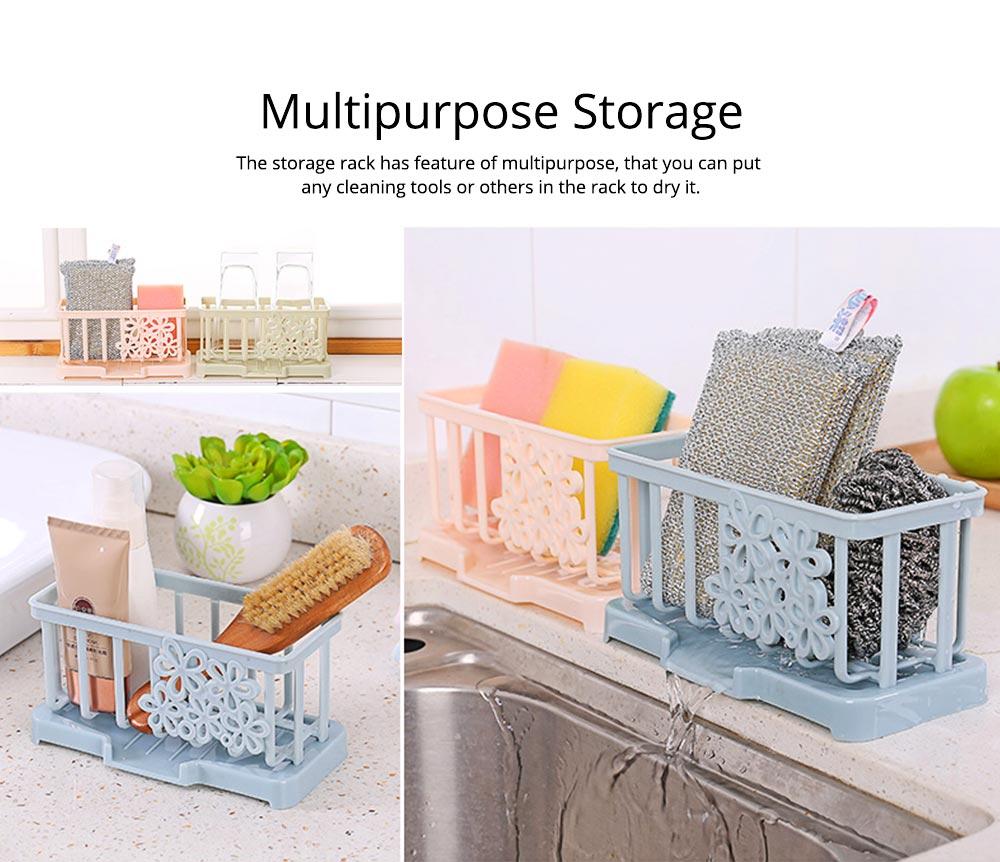 Storage Holder Durable Organizer Shelf for Kitchen Household Plastic Detachable Drying Rack 5