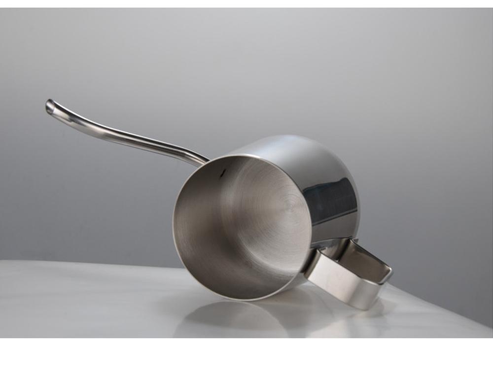 Stainless Steel Drip Coffee Maker Hand Drip Coffee Pot Narrow-mouthed Drip Coffee Urn Long Mouth Teflon Coffee Maker 7