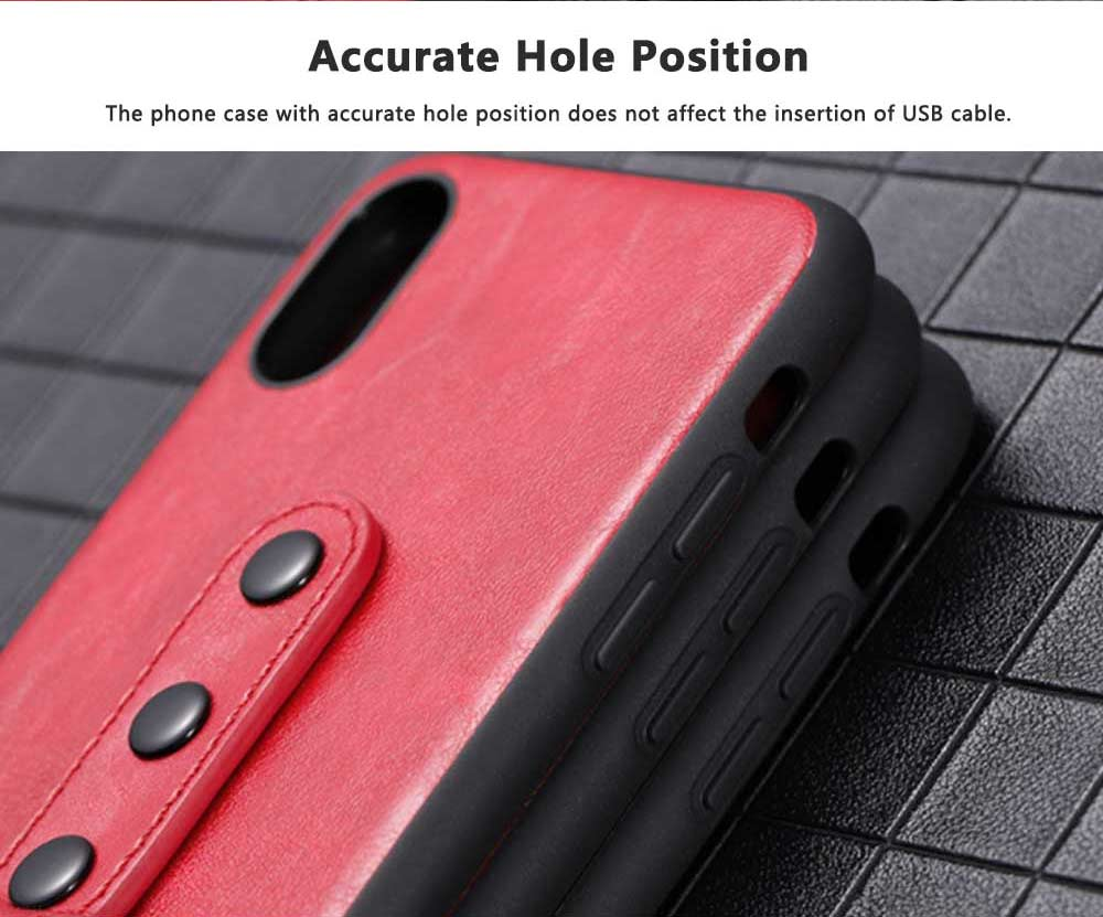 Luxury Soft PU Leather Phone Case for iPhone X/XS/XR 4