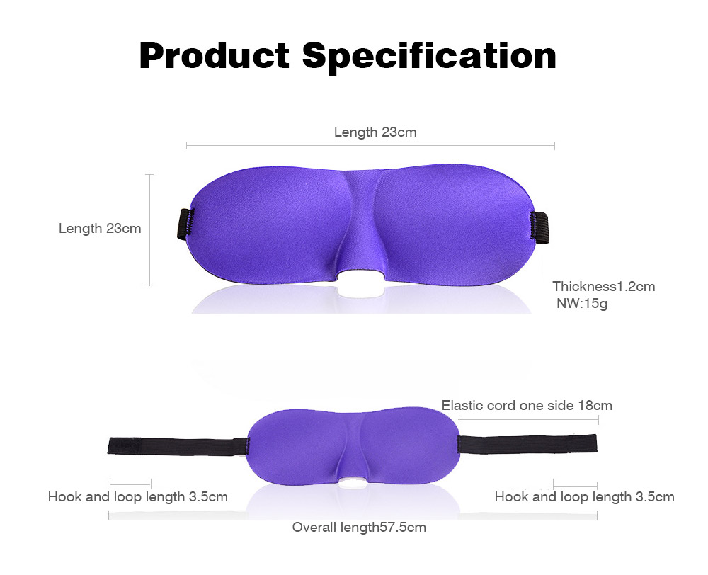 Seamless Stereoscopic Eyeshade Three-dimensional Anxiety-proof Eyepatch Korean Style Customized Logo Anti-glare Breathable Blinkers to Protect Eyes and Fit for Face Size 8
