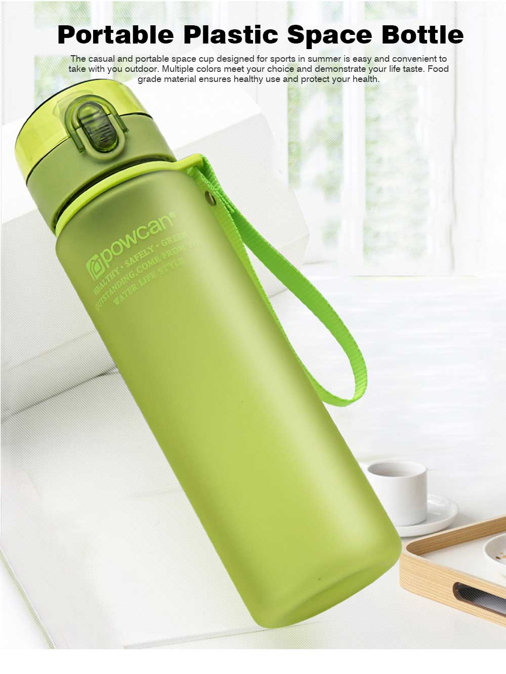 Portable Plastic Space Bottle of Sports Style for Summer, Creative Powcan Cup Children Cup for Students' Use PC Cups 0