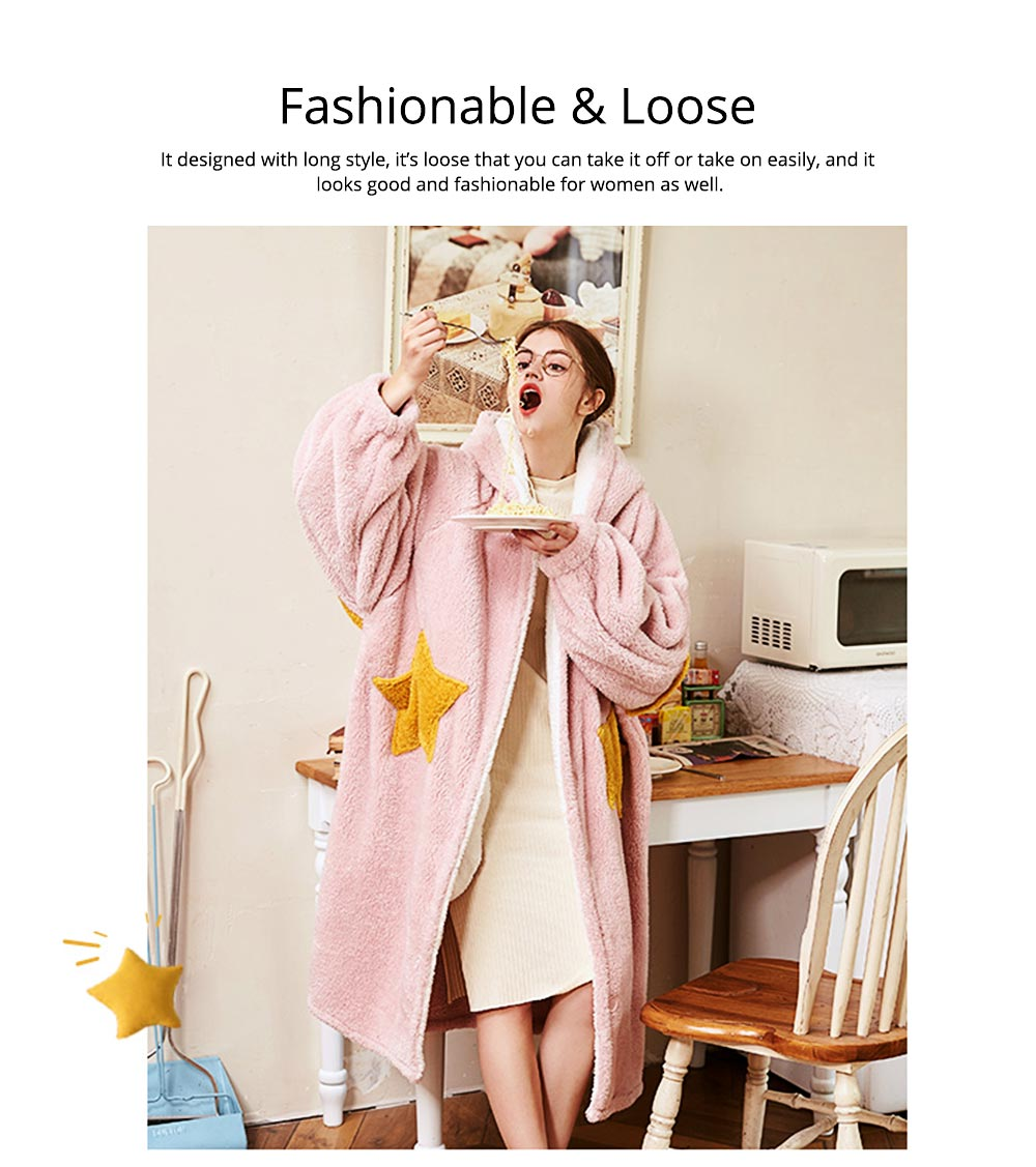 Nightclothes Breathable Sleepwear Long Style for Women Girl Flannel Winter Pajamas 9