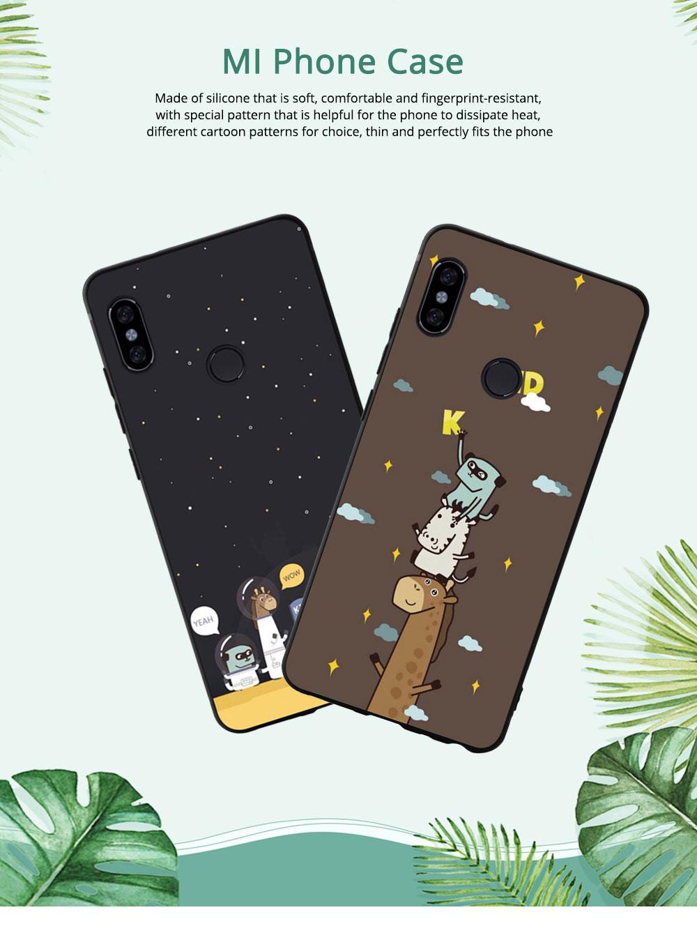 MI Phone Case for MI 8, MI 8 Explorer, MI 8 Lite, MI SE, MI 6X, Fingerprint-resistant Soft Silicone Phone Case Cover, Cartoon MI Protection Case 0
