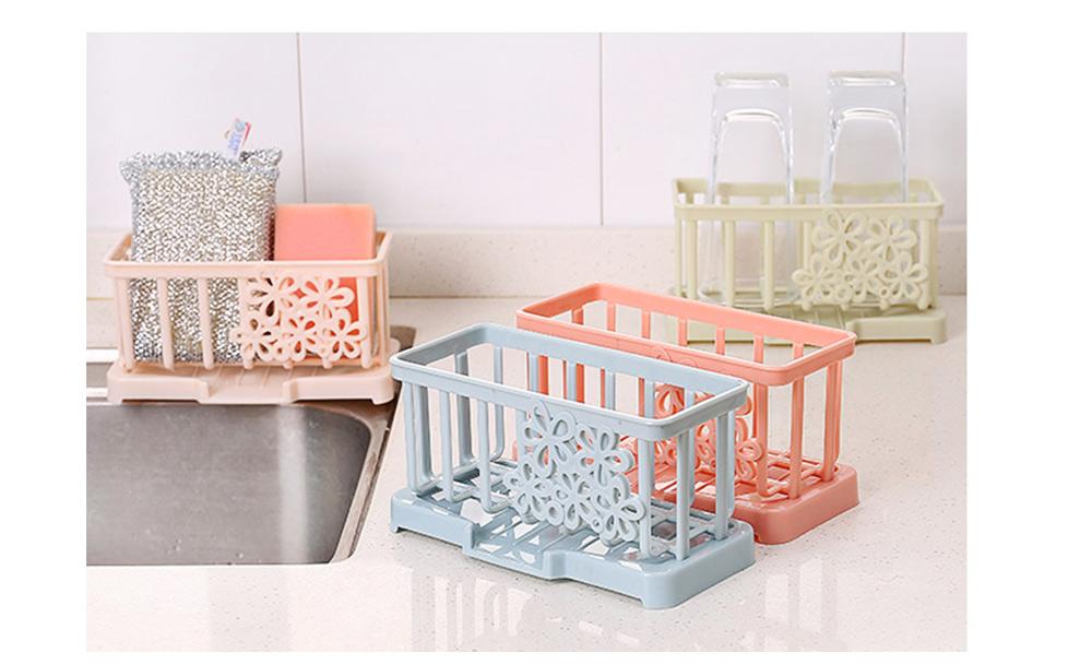 Storage Holder Durable Organizer Shelf for Kitchen Household Plastic Detachable Drying Rack 6