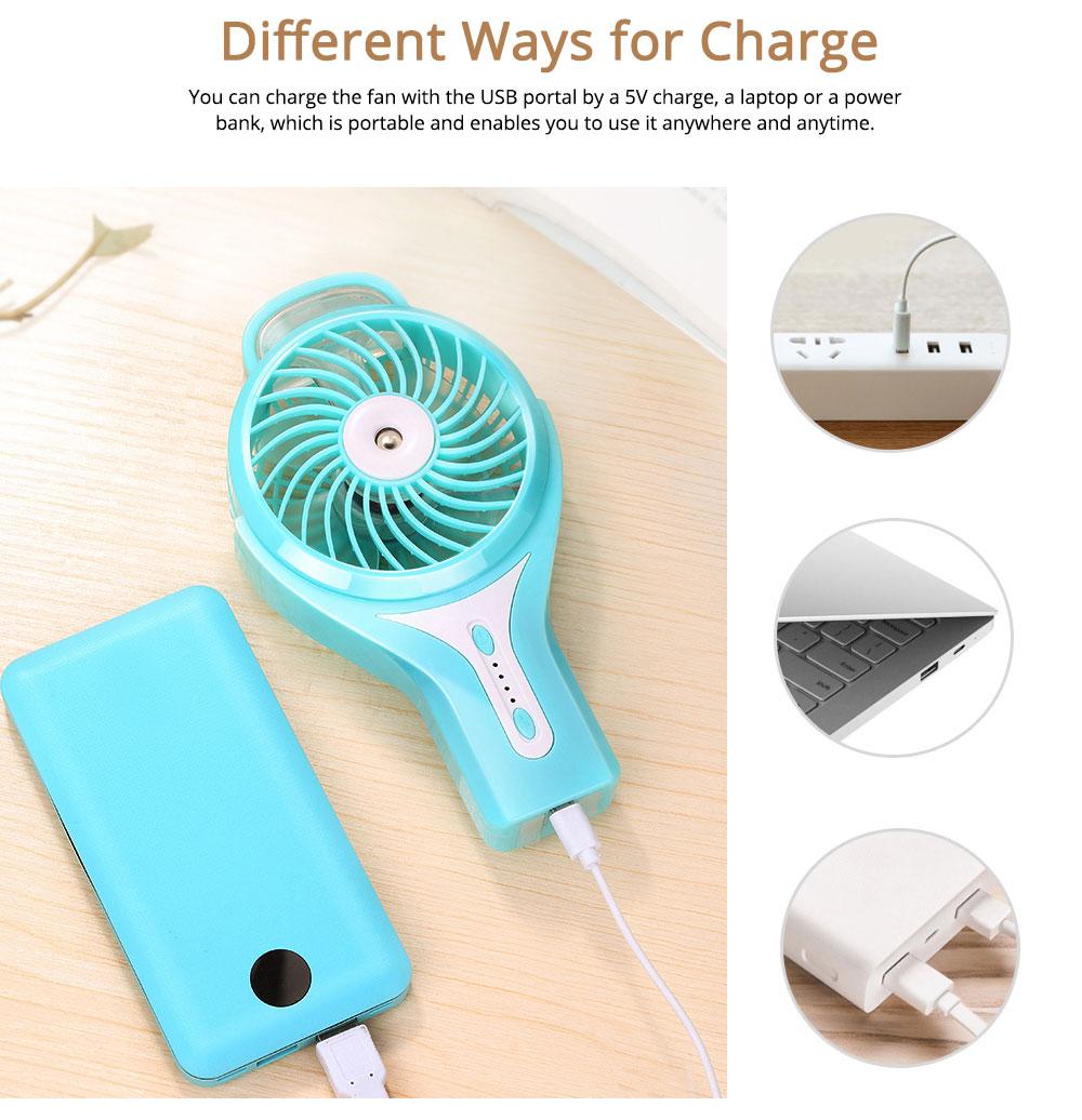 Portable Mini Handheld Desk & Table Fan, Small Water Spray Moisturizing USB Fan for Bed, Laptop, Desktop 4