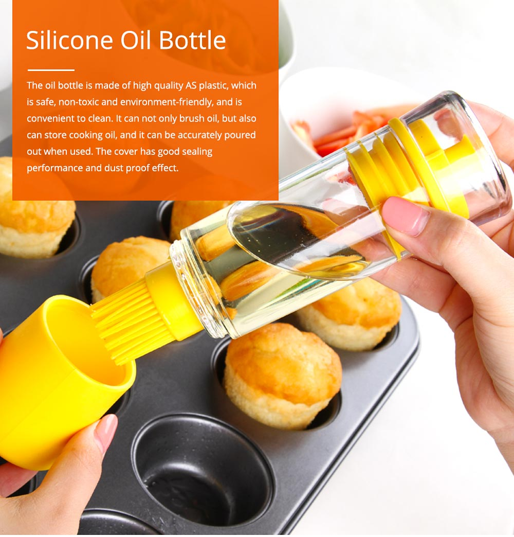 Silicone Oil Brush with Bottle Creative Household Supplies Kitchen Bake Tool High Temperature Resistance BBQ Brush 0