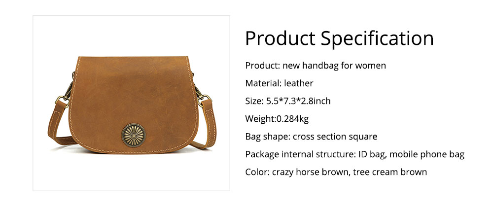 Vintage Fashion Leather Handbags, Vegetable Tanned Ladies Shoulder Bag for Female, Top Cowhide Clutch 7