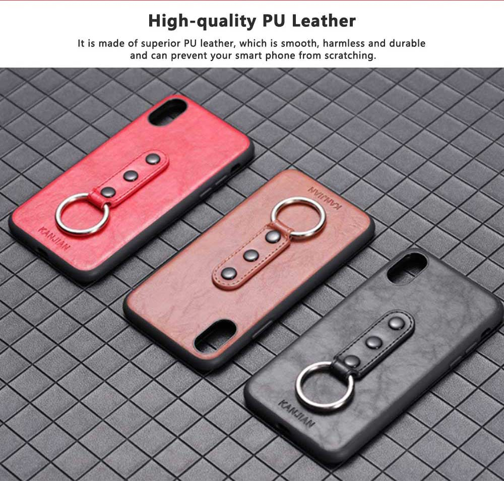Luxury Soft PU Leather Phone Case for iPhone X/XS/XR 1