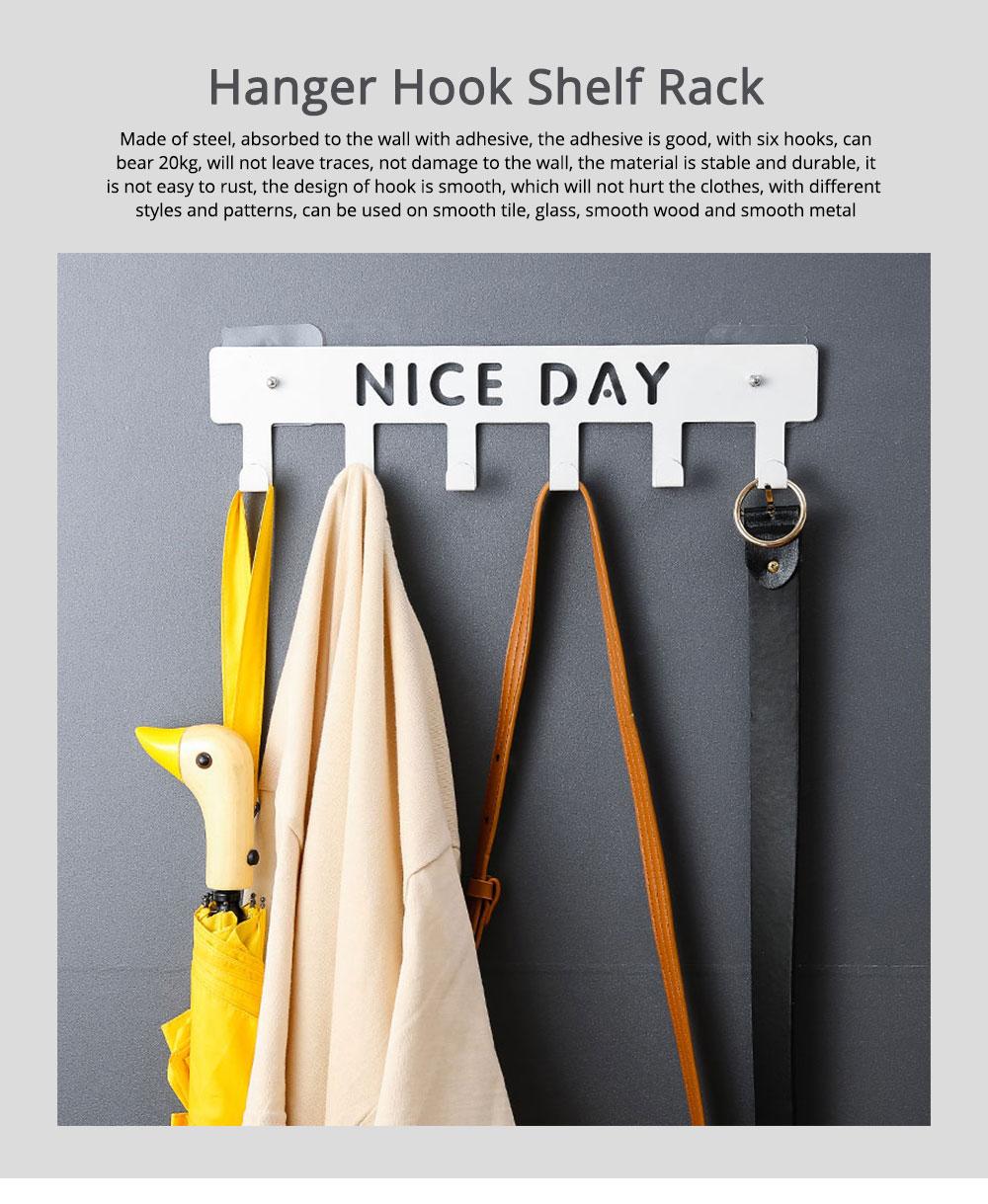 Hook and Bath Decorative Multi Back Door Over The Door Hanger, Cloth Hook Shelf Rack, Seamless Nail-free 0
