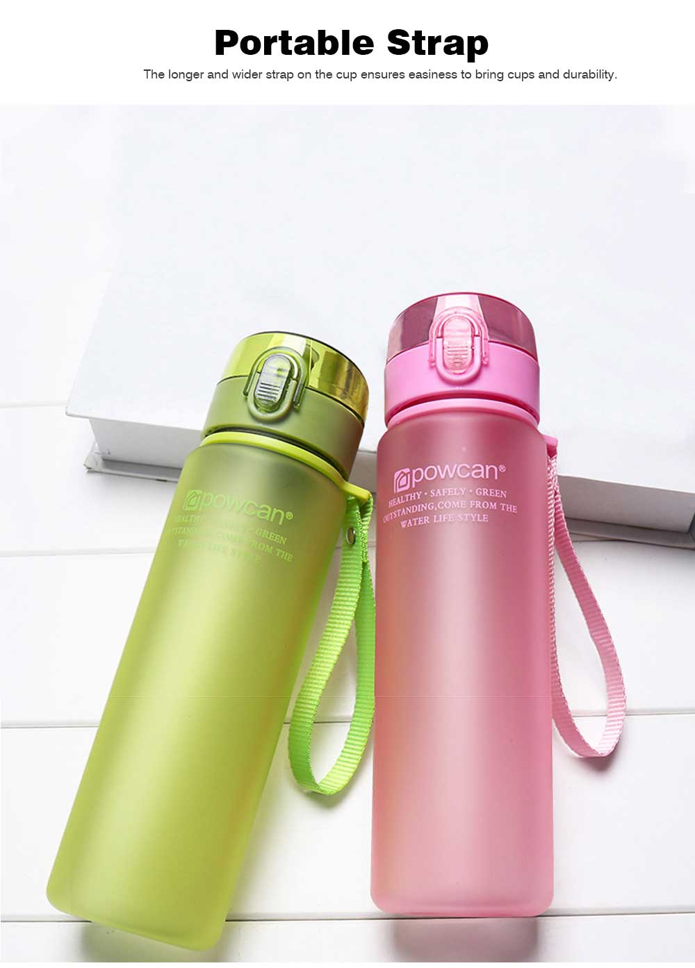 Portable Plastic Space Bottle of Sports Style for Summer, Creative Powcan Cup Children Cup for Students' Use PC Cups 4