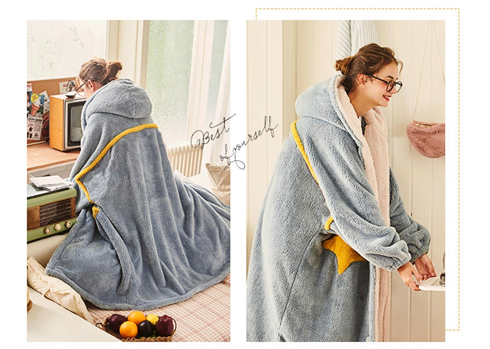 Nightclothes Breathable Sleepwear Long Style for Women Girl Flannel Winter Pajamas 7