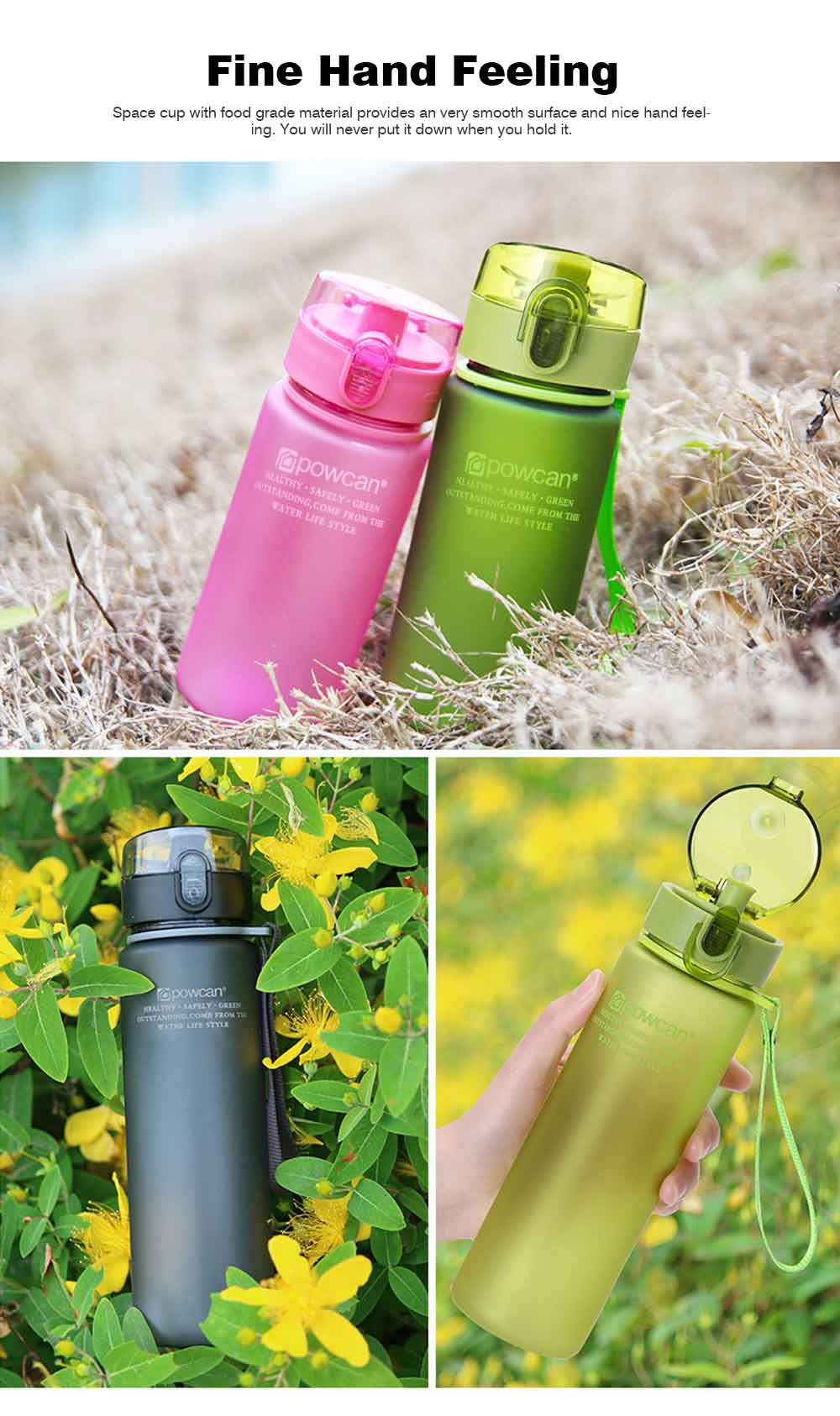 Portable Plastic Space Bottle of Sports Style for Summer, Creative Powcan Cup Children Cup for Students' Use PC Cups 9