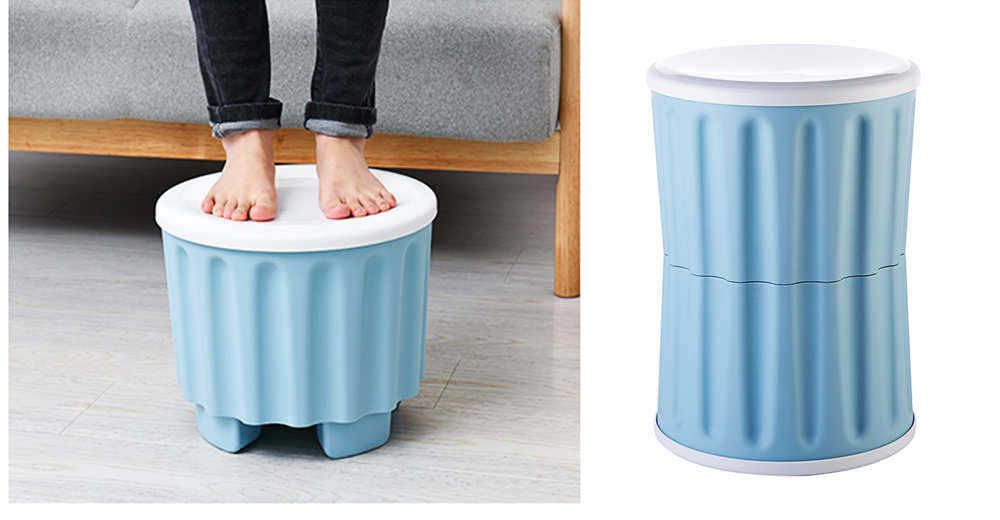 Large Capacity Container PP Material Box Multifunctional for Home Storage Stool 2