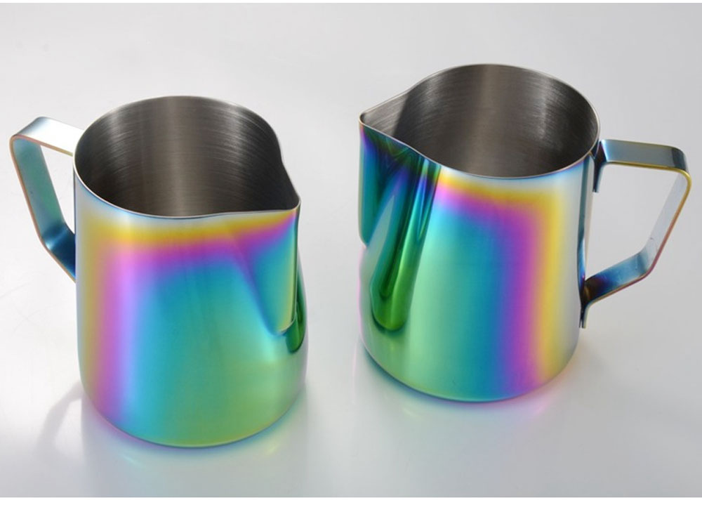 Teflon-coated Stainless Steel Garland Cup with Dazzling Color, 600ml Garland Mug Milk Foam Cup Fancy Cup 7