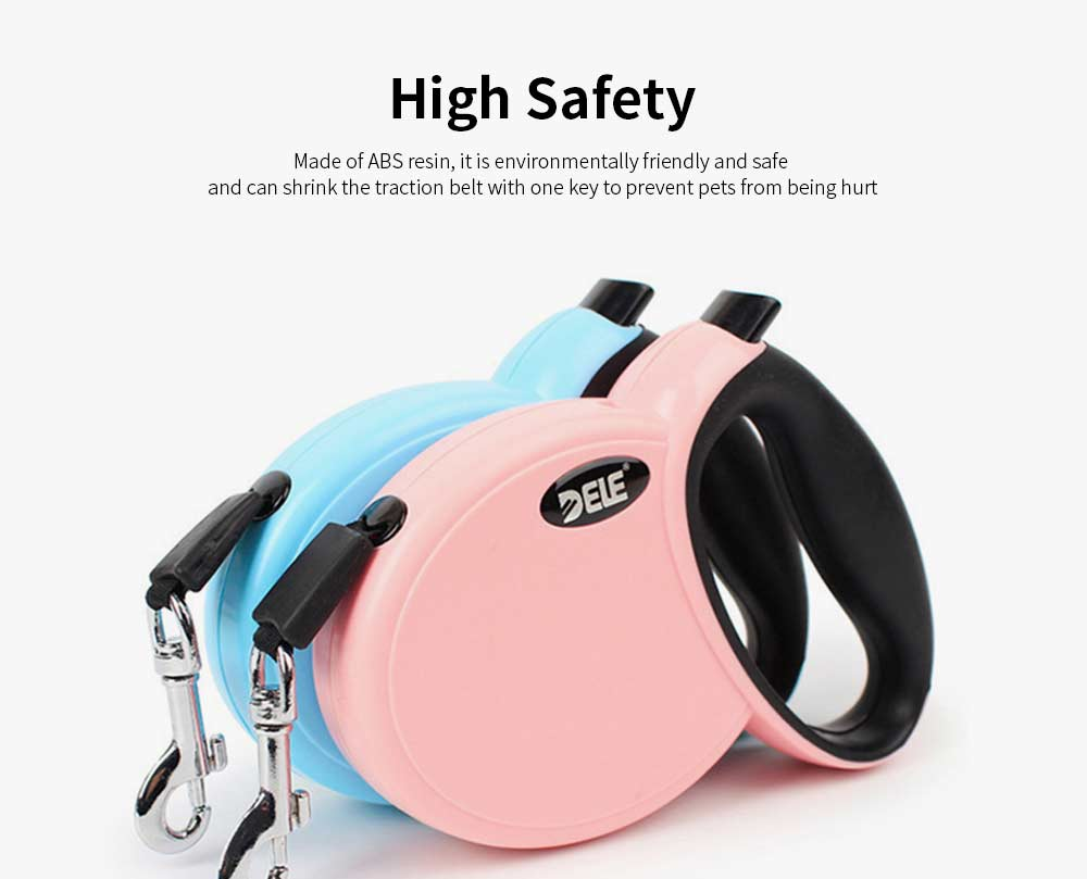 3 Meters Automatic Telescopic Traction Belt, Flat Belt Dog Polyester Telescopic Traction Rope 2