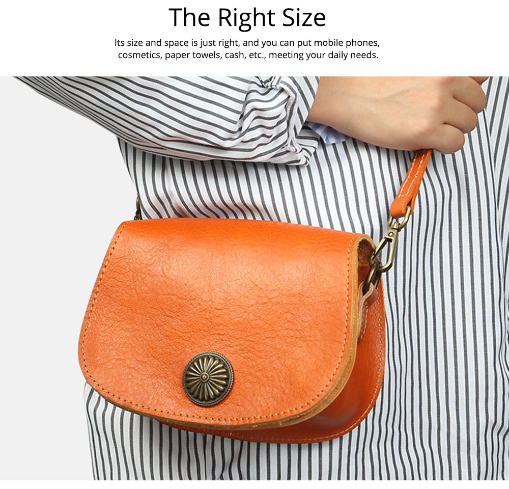Vintage Fashion Leather Handbags, Vegetable Tanned Ladies Shoulder Bag for Female, Top Cowhide Clutch 2