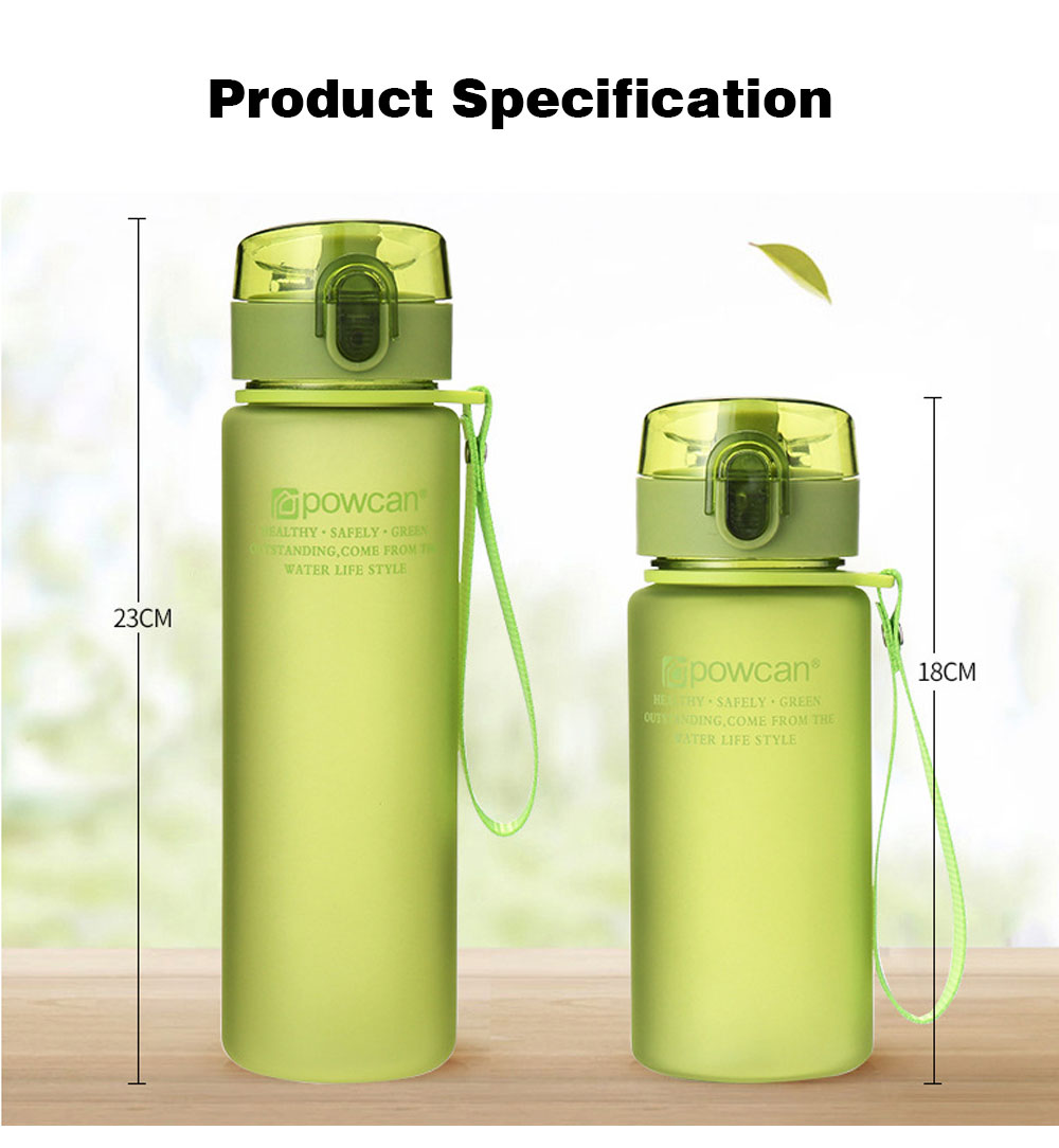 Portable Plastic Space Bottle of Sports Style for Summer, Creative Powcan Cup Children Cup for Students' Use PC Cups 14