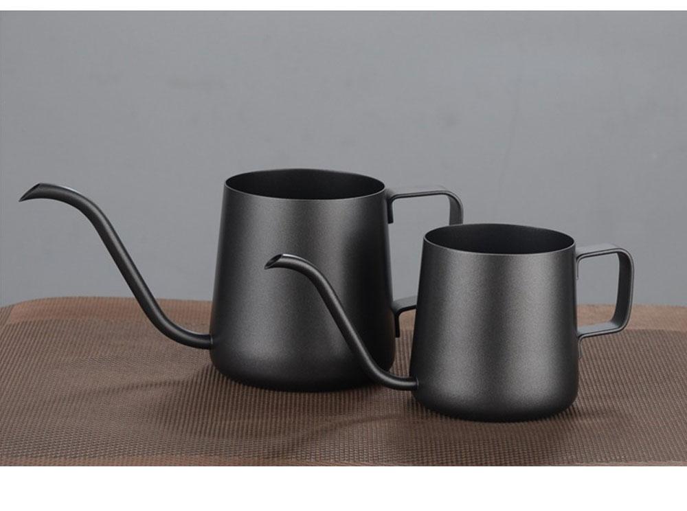 Stainless Steel Drip Coffee Maker Hand Drip Coffee Pot Narrow-mouthed Drip Coffee Urn Long Mouth Teflon Coffee Maker 4