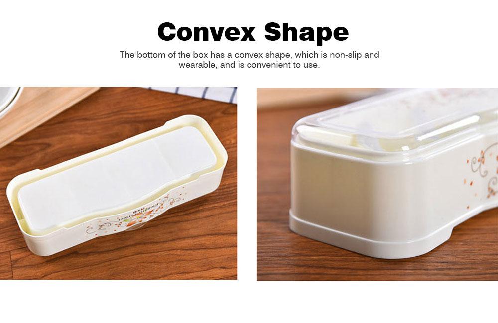 Beige Transparent Seasoning Jar with Spoon, High-grade PP + PS Flip Four-grip Seasoning Bottle for Home 2