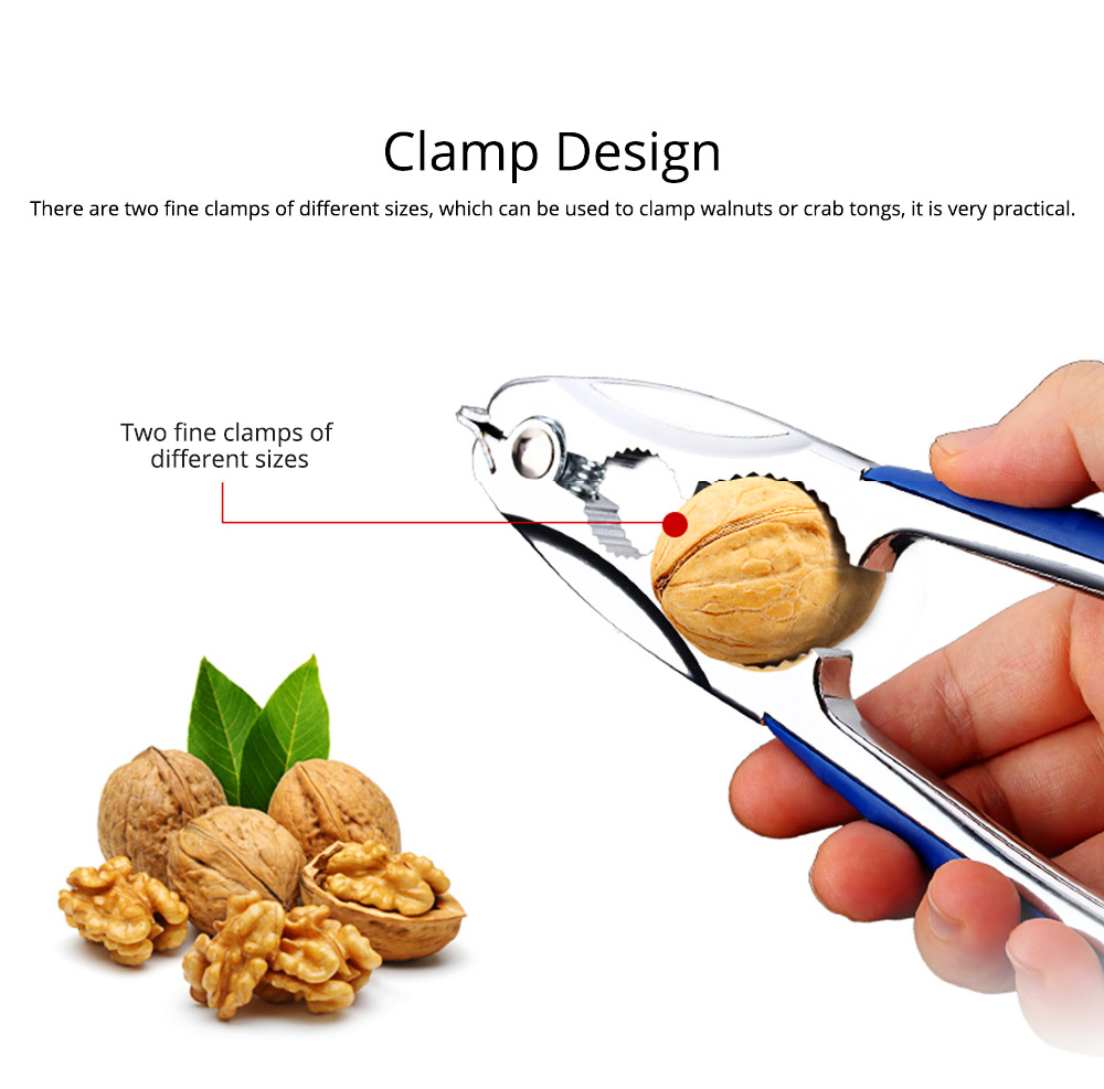 Clam Opener Zinc Alloy Thickening Blood Clam Seashell Nut Opener Strong Durable Clamp Kitchen Tool 7