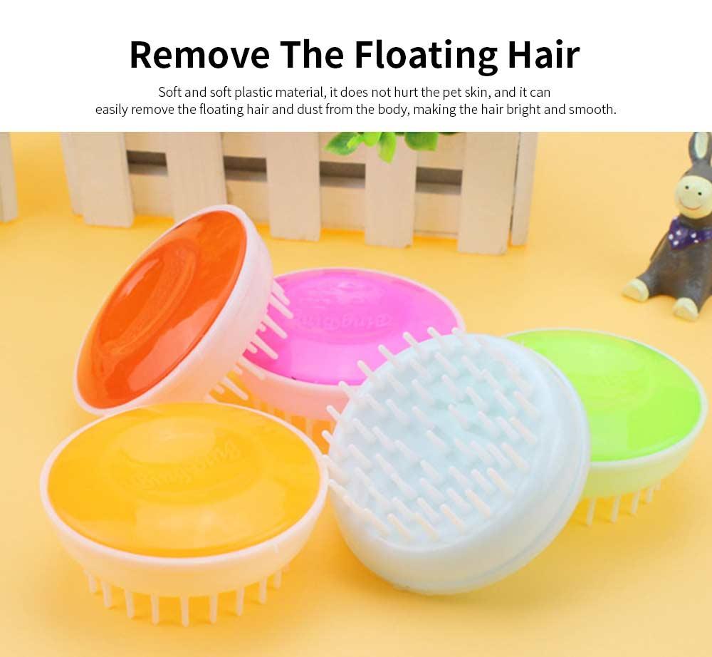 Round Pet Bath Brush, Hand-held Dog Bath Cleaning Brush, Dog Supplies Massage Brush 5