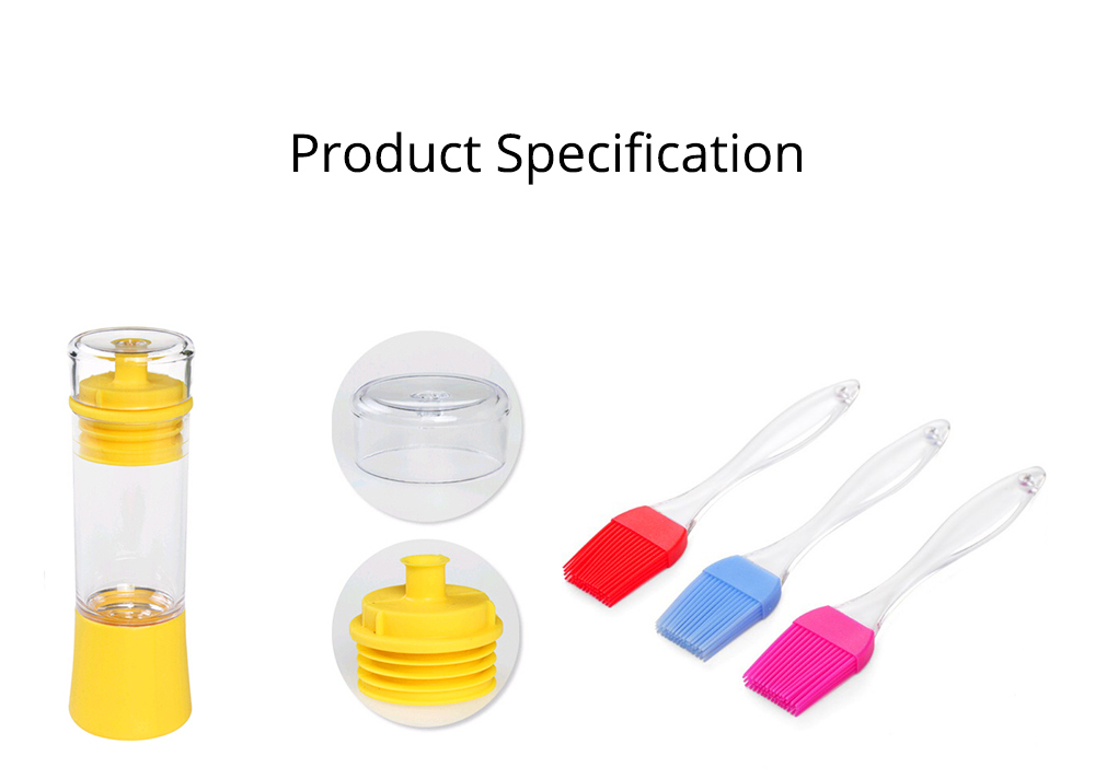 Silicone Oil Brush with Bottle Creative Household Supplies Kitchen Bake Tool High Temperature Resistance BBQ Brush 8