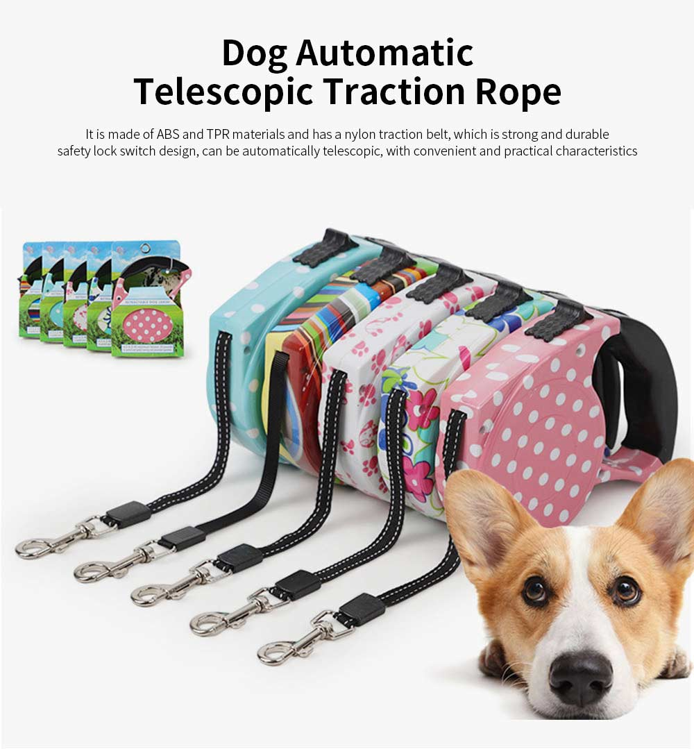 Dog Automatic Telescopic Pet Traction Rope, 5 Meters of Lengthening Small And Medium Pet Supplies 0