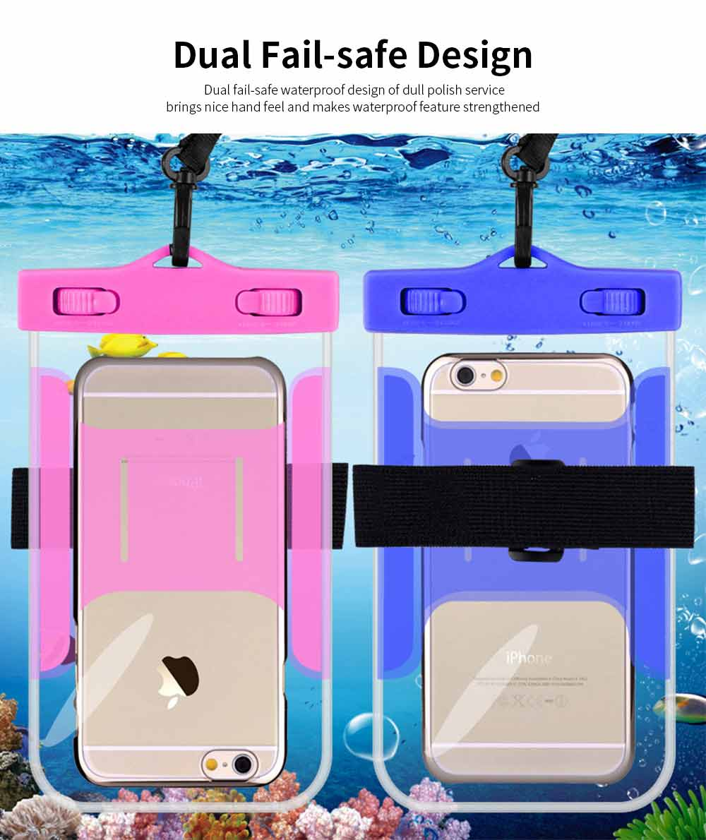 Universal Waterproof Anti-dust Phone Case, Transparent PVC Diving Touch Screen Phone Case for iphone7/6s 2
