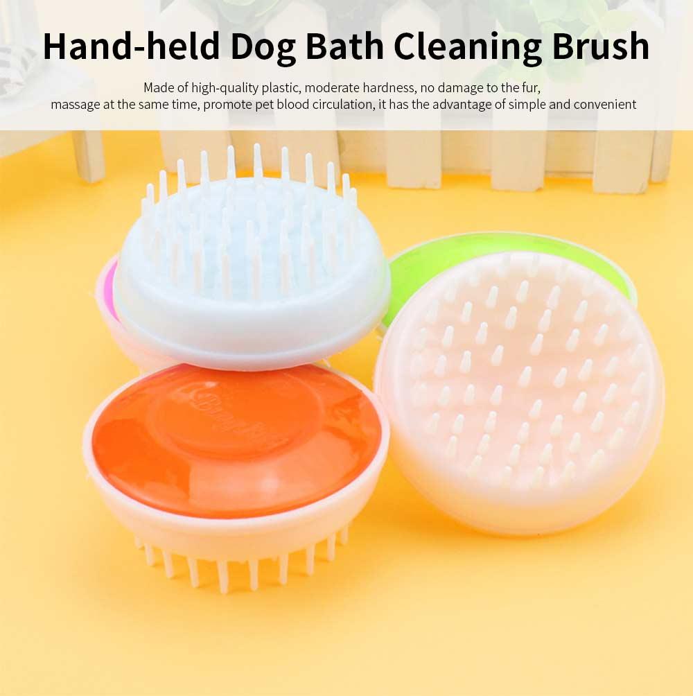 Round Pet Bath Brush, Hand-held Dog Bath Cleaning Brush, Dog Supplies Massage Brush 0