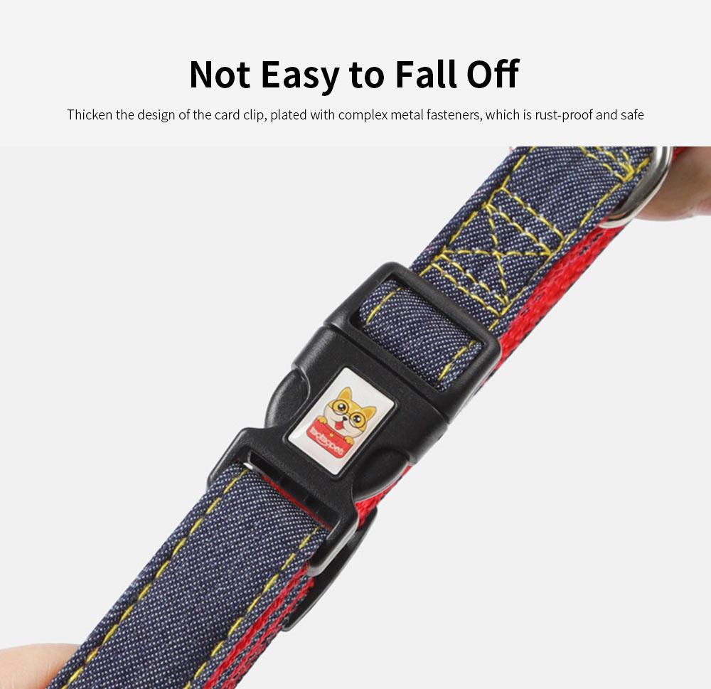 Wear-resistant Denim Sewing Pet Leash for Small Medium-sized Dogs, New Sleek Minimalist Pet Supplies 2