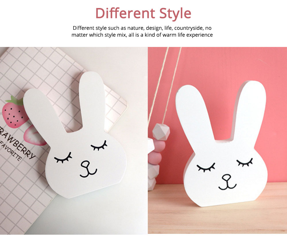 Wooden Hand Making Rabbit Best Gifts for Kids on Table, Home Decoration, Living Room, Bedroom 5