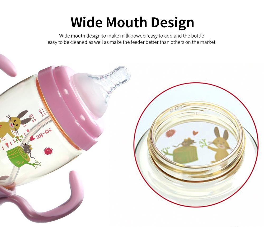 Nurser for New-born Infant Wide Mouth Feeder Avoid Flatulence Baby Care Large-size Nursing Bottle PPSU Anti-impact Feeding Bottle 6