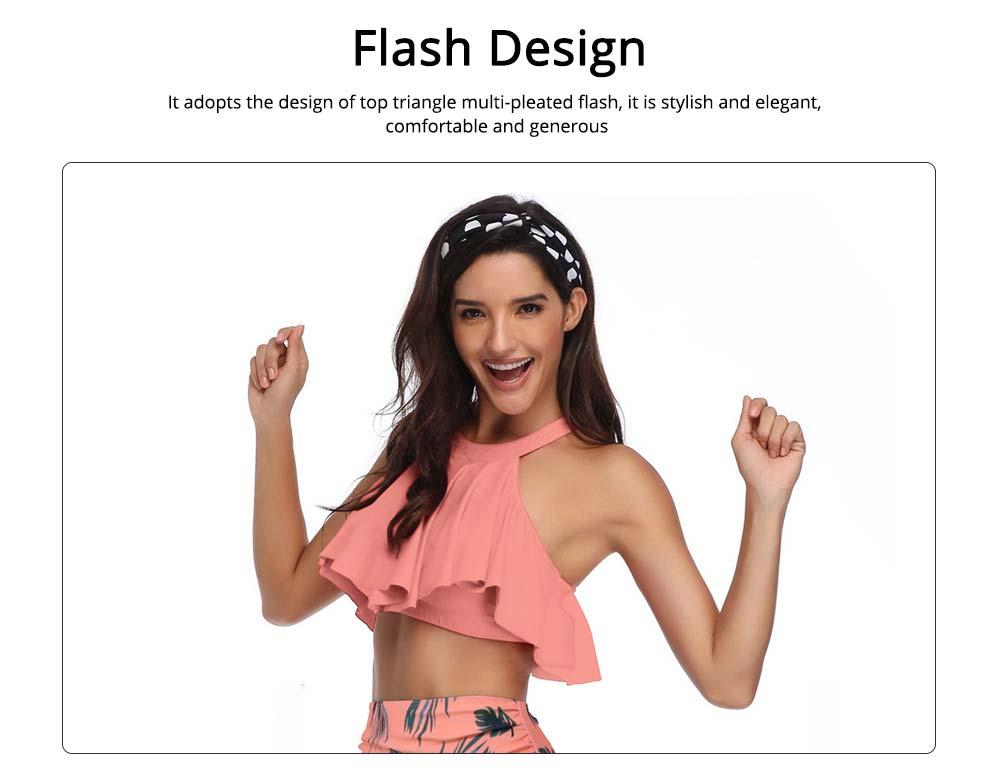 New Style High Waist Ruffle Two Piece Women Girl Fashion Parent-Child Swimsuit Swimwear 1