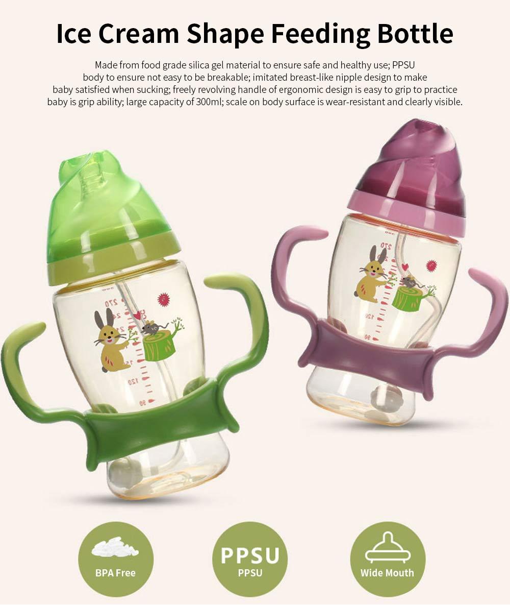 Nurser for New-born Infant Wide Mouth Feeder Avoid Flatulence Baby Care Large-size Nursing Bottle PPSU Anti-impact Feeding Bottle 0