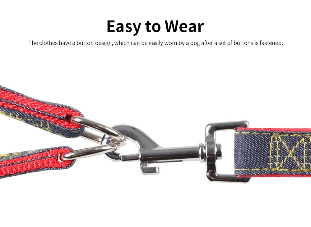 Wear-resistant Denim Sewing Pet Leash for Small Medium-sized Dogs, New Sleek Minimalist Pet Supplies 3