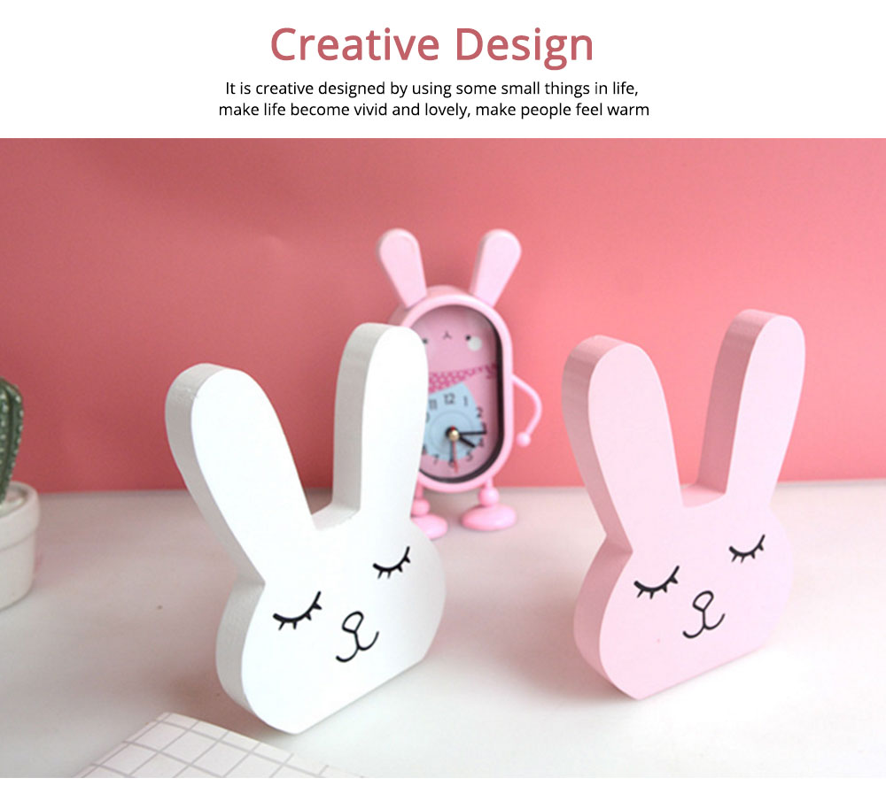 Wooden Hand Making Rabbit Best Gifts for Kids on Table, Home Decoration, Living Room, Bedroom 2