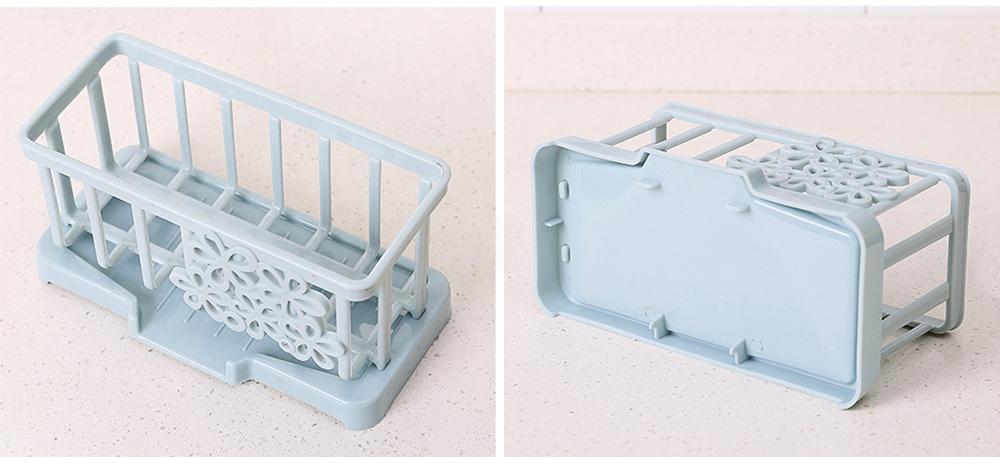 Storage Holder Durable Organizer Shelf for Kitchen Household Plastic Detachable Drying Rack 8
