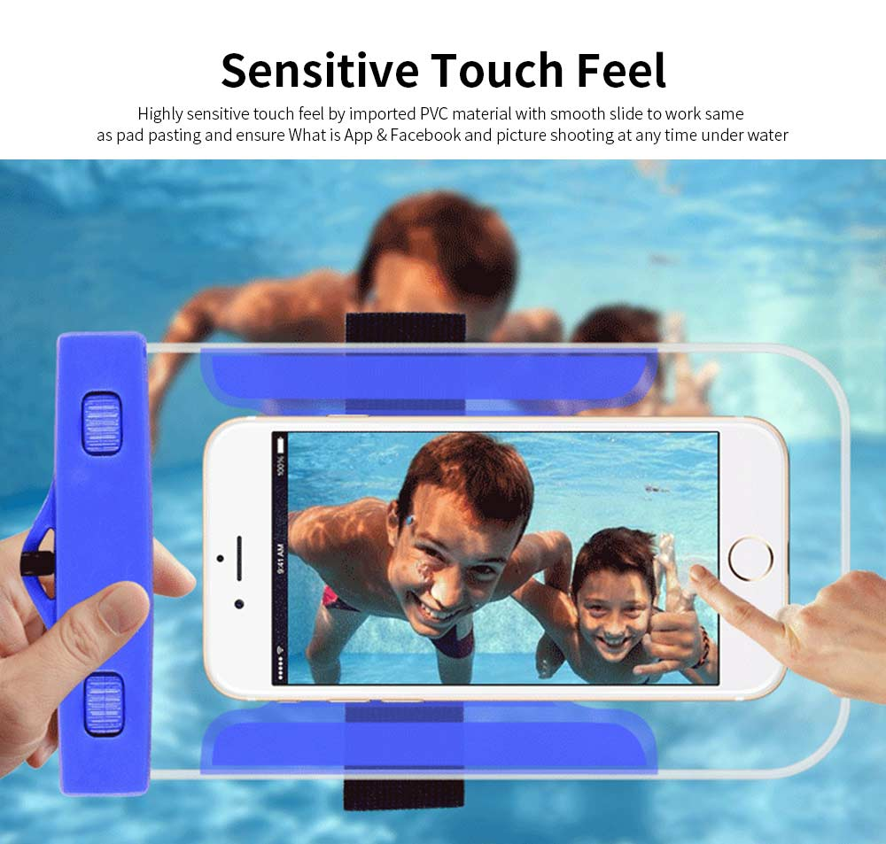 Universal Waterproof Anti-dust Phone Case, Transparent PVC Diving Touch Screen Phone Case for iphone7/6s 1