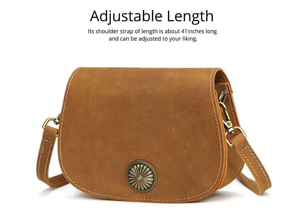Vintage Fashion Leather Handbags, Vegetable Tanned Ladies Shoulder Bag for Female, Top Cowhide Clutch 3