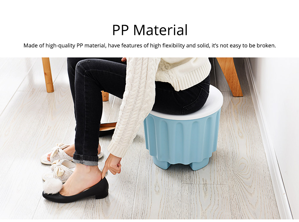 Large Capacity Container PP Material Box Multifunctional for Home Storage Stool 5