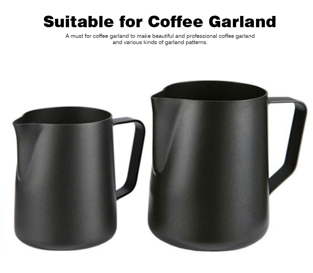 Teflon-coated Garland Cup for Milk Stainless Steel Cup for Milk Non-Stick Milk Mug with 350ml/600ml Coffee Cup 6