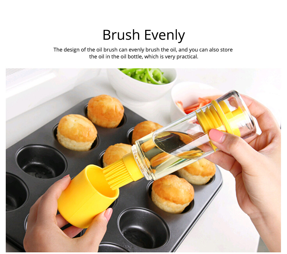 Silicone Oil Brush with Bottle Creative Household Supplies Kitchen Bake Tool High Temperature Resistance BBQ Brush 4
