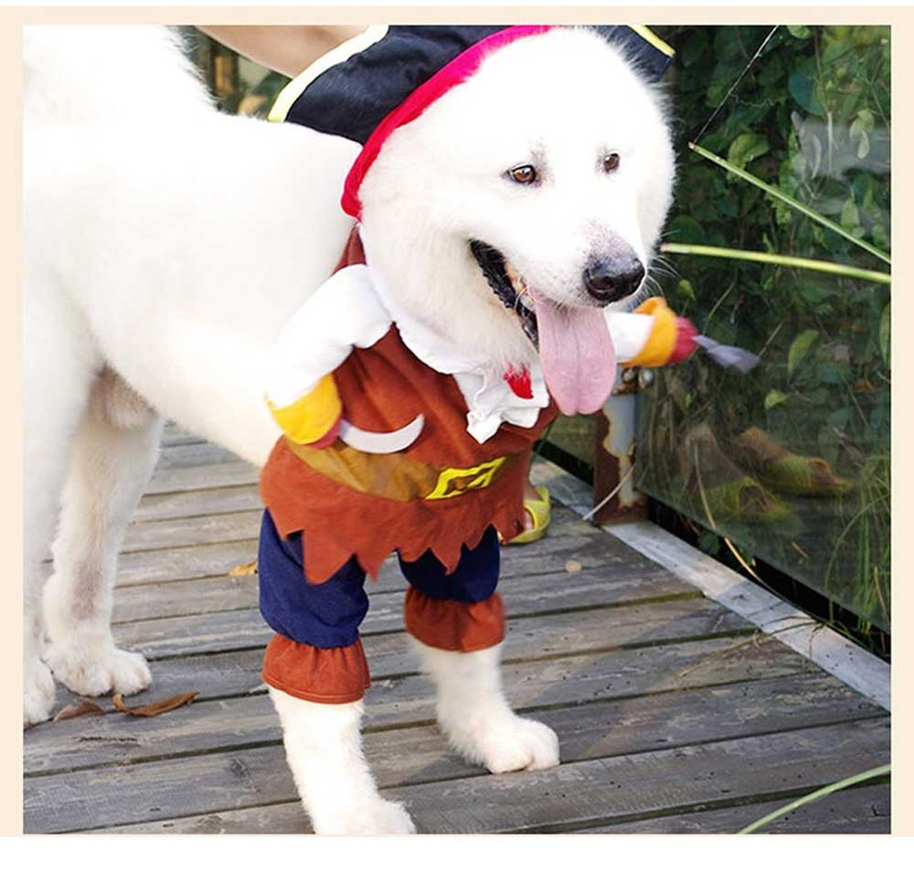 Pirate Costume for Dogs, Halloween Days Dog Clothes Pet Costumes  3