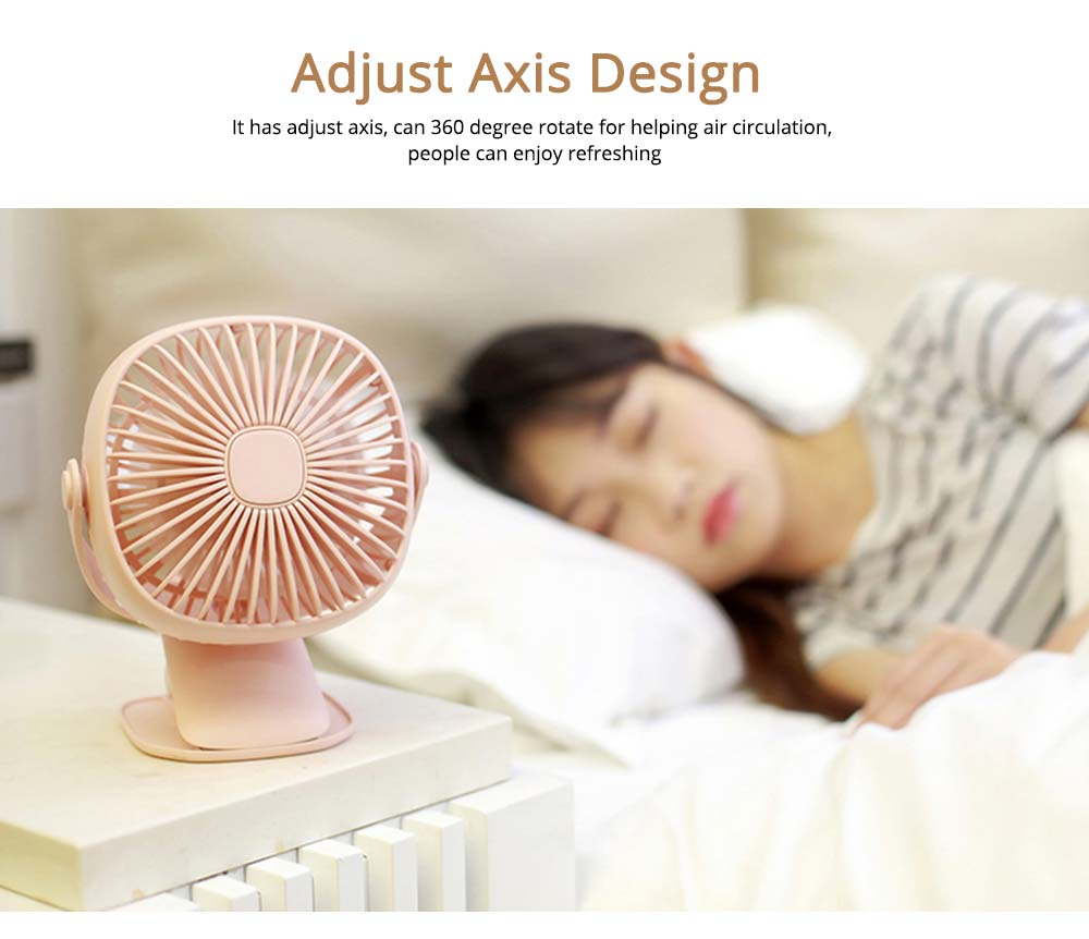 Rechargeable Portable Fan Table Clip Desk 360 Degree Rotation USB Electric Mini Fan with Lithium Cooling Battery 3