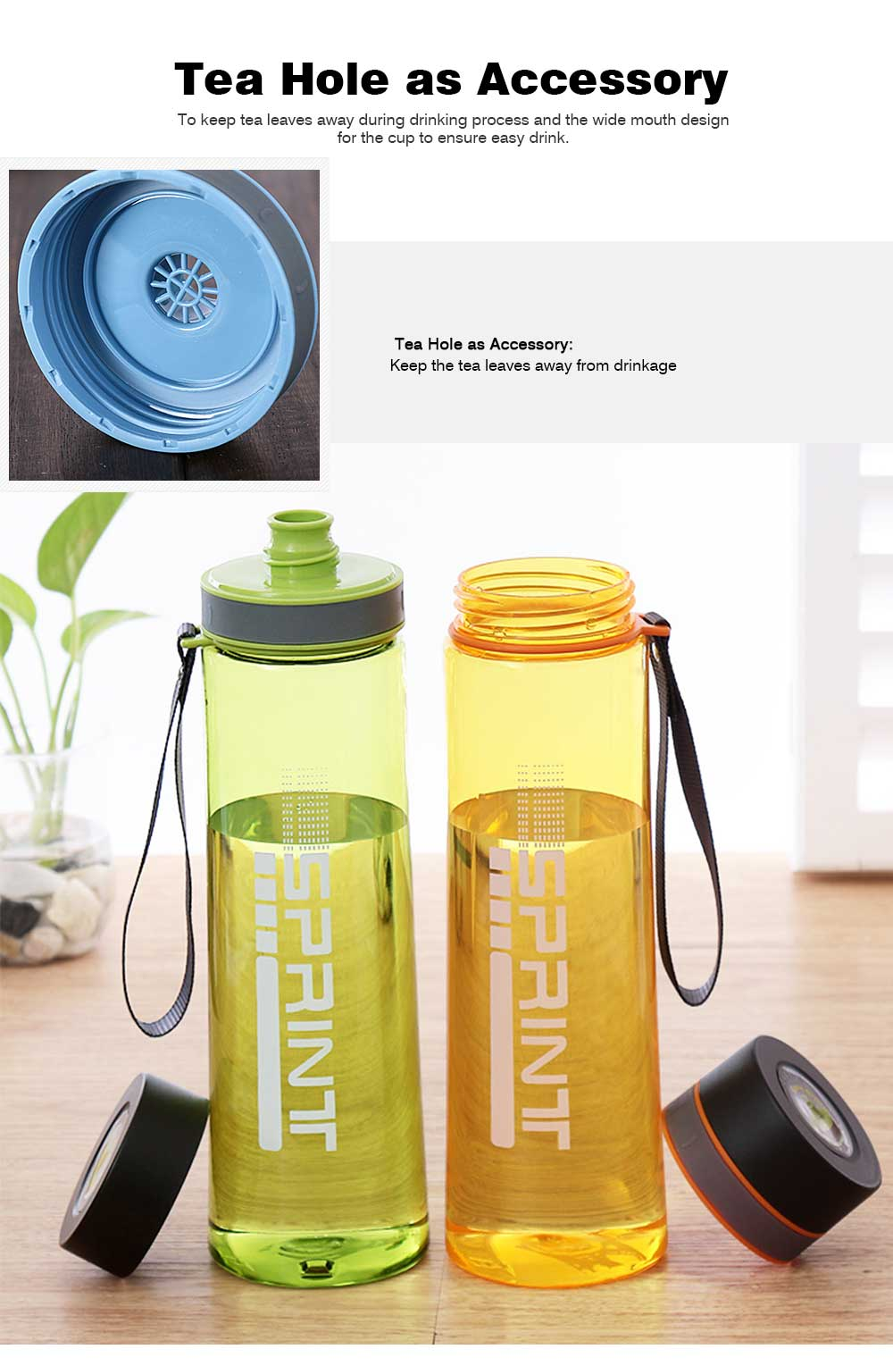 Portable Space Cup with Big Capacity for Students, 1000ml Sports Water Bottle for Outdoor Activities PC Cups 6