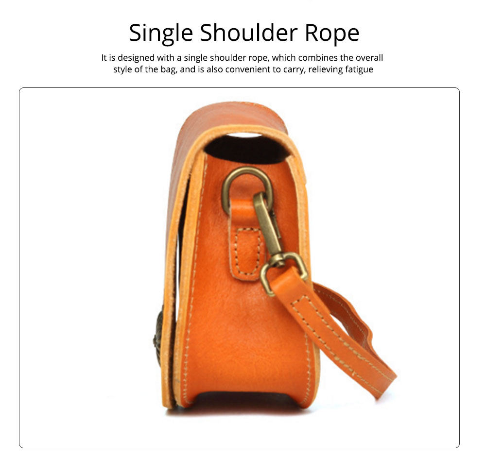 Vintage Fashion Leather Handbags, Vegetable Tanned Ladies Shoulder Bag for Female, Top Cowhide Clutch 4