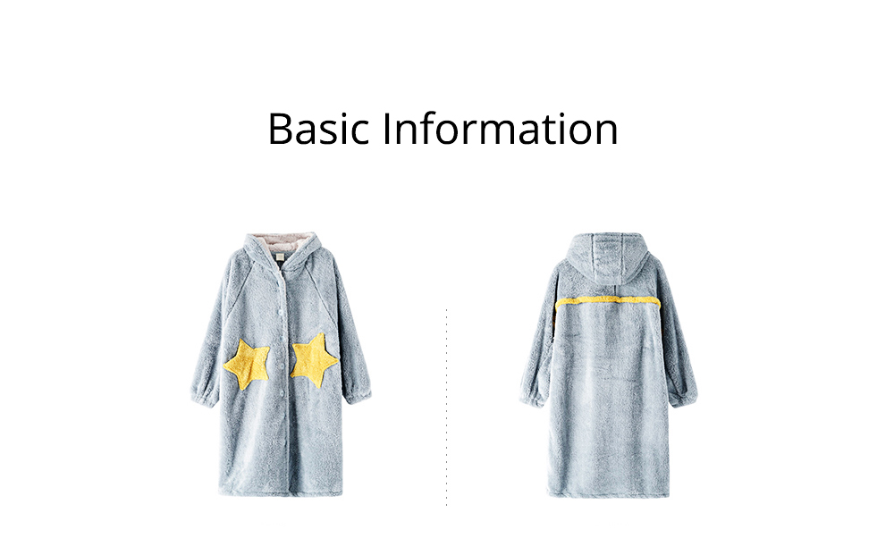 Nightclothes Breathable Sleepwear Long Style for Women Girl Flannel Winter Pajamas 10