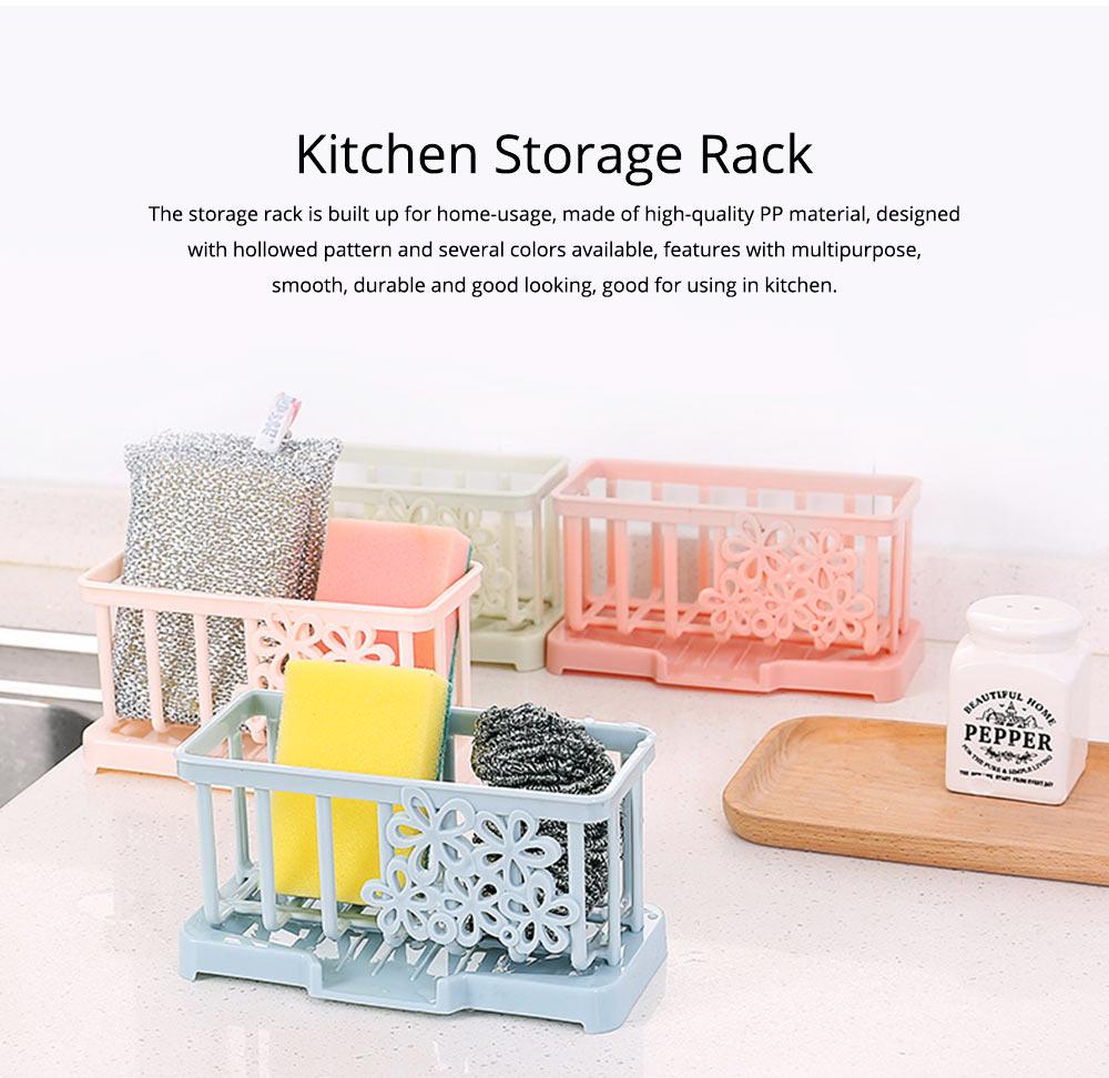Storage Holder Durable Organizer Shelf for Kitchen Household Plastic Detachable Drying Rack 0